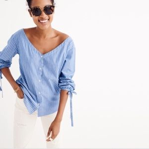 Madewell Blue and White Striped Top XXS